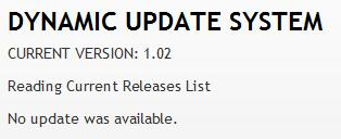 Update Screen After Install
